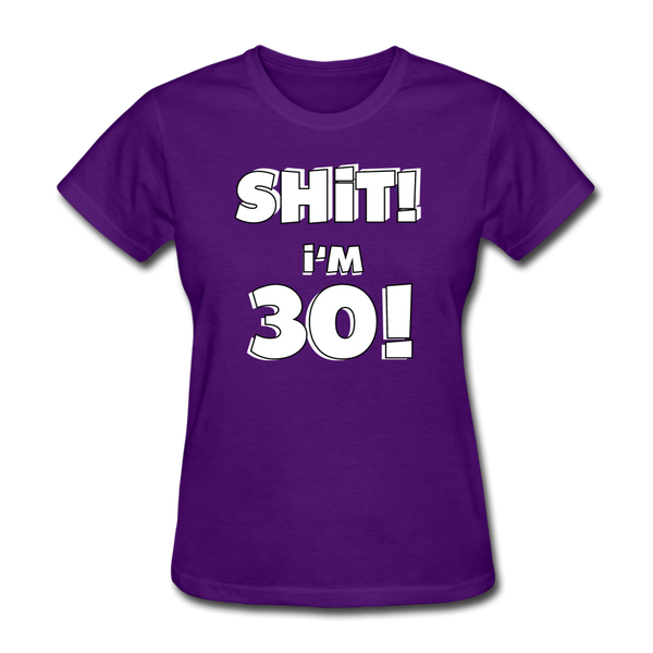 30th Birthday Women's T-Shirt - purple