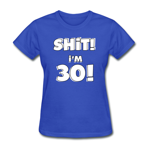 30th Birthday Women's T-Shirt - royal blue