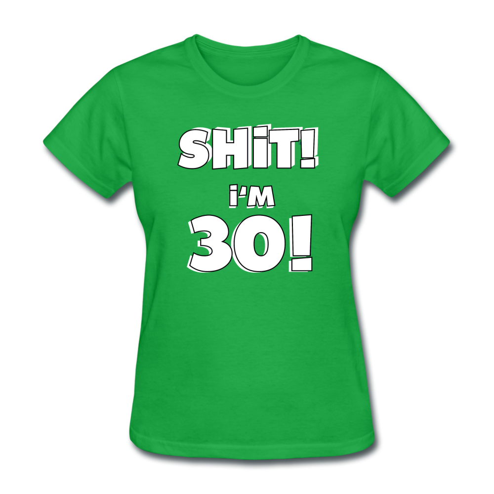 30th Birthday Women's T-Shirt - bright green