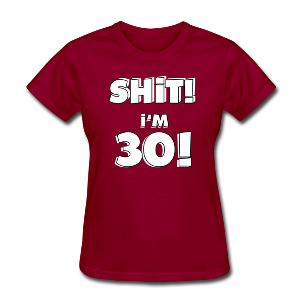 30th Birthday Women's T-Shirt - dark red