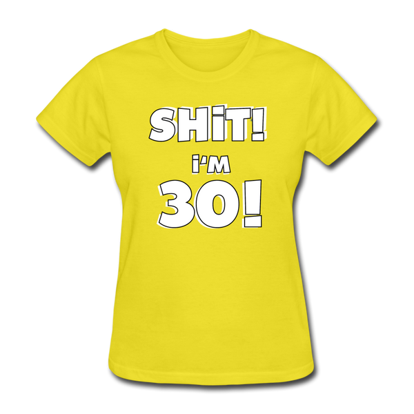 30th Birthday Women's T-Shirt - yellow