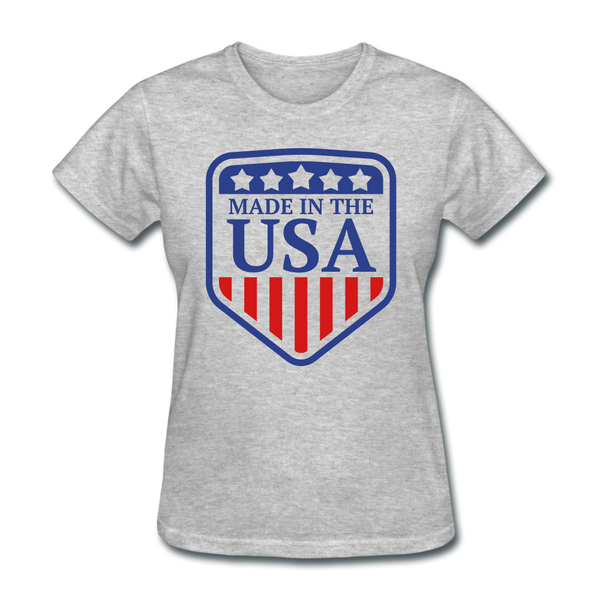 Made in USA Women's T-Shirt - heather gray