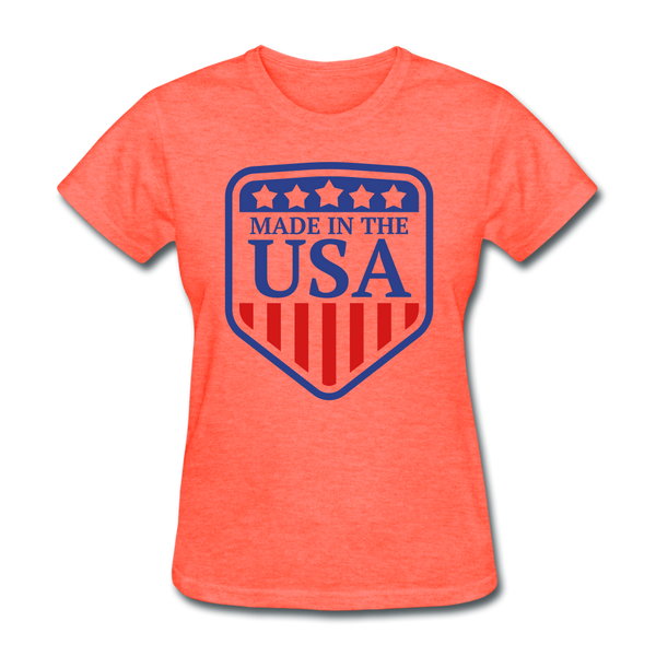 Made in USA Women's T-Shirt - heather coral