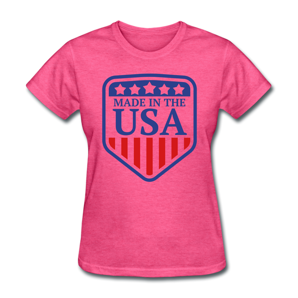 Made in USA Women's T-Shirt - heather pink