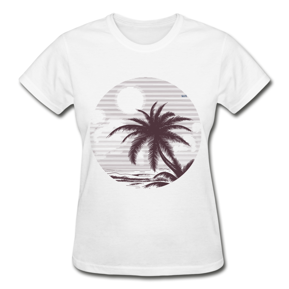 Summer vibes Gildan Ultra Cotton Ladies T-Shirt - white