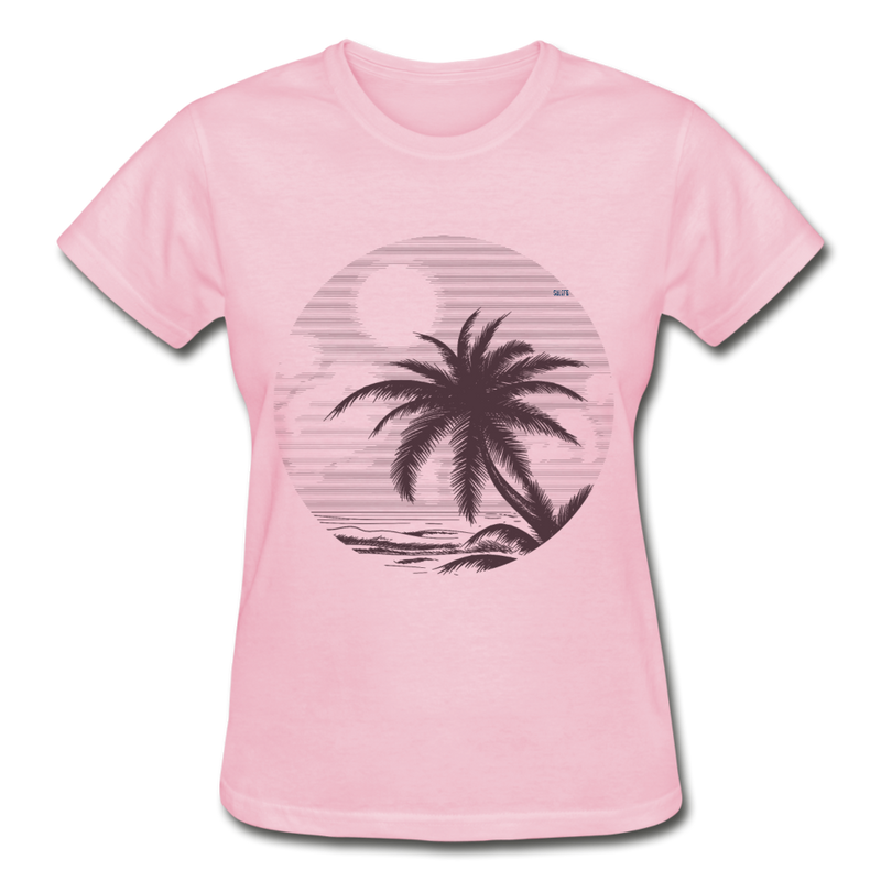 Summer vibes Gildan Ultra Cotton Ladies T-Shirt - light pink
