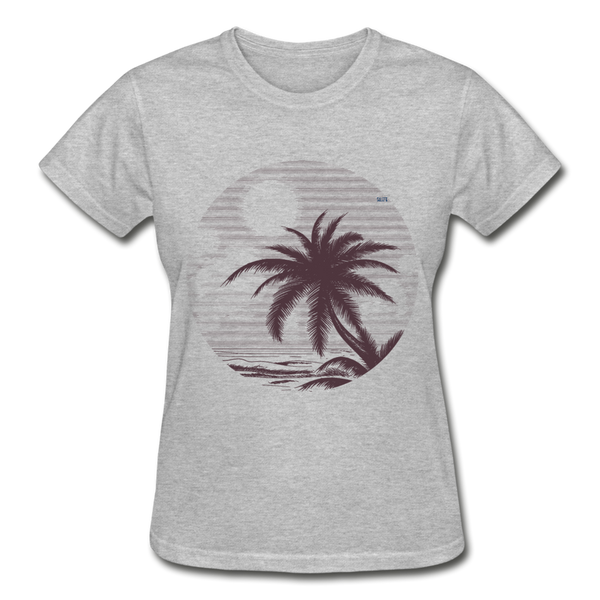 Summer vibes Gildan Ultra Cotton Ladies T-Shirt - heather gray