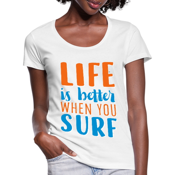 Surf Women's Scoop Neck T-Shirt - white