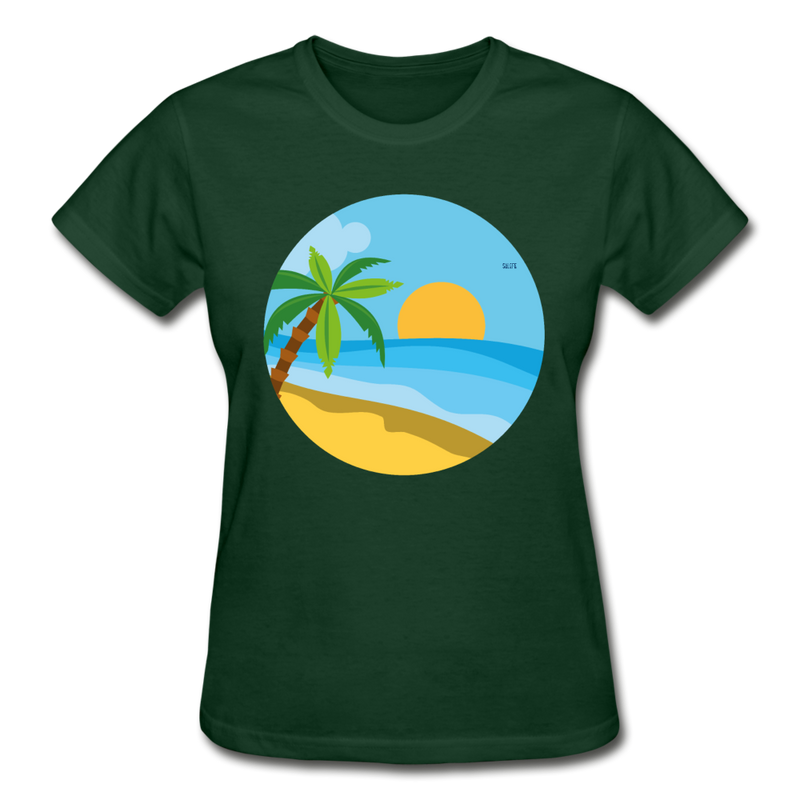 Summer Gildan Ultra Cotton Ladies T-Shirt - forest green