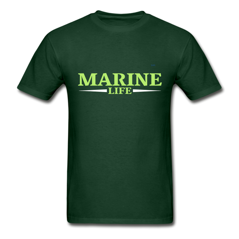 Marine Life Gildan Ultra Cotton Adult T-Shirt - forest green