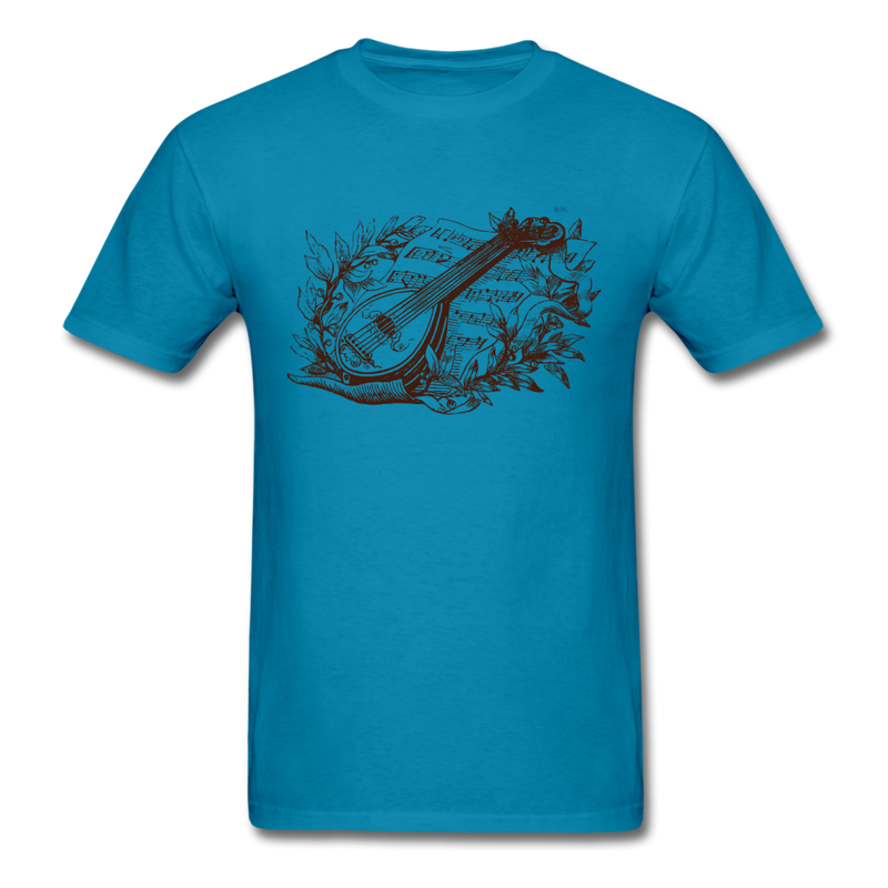 Mandolin Men's T-Shirt - turquoise