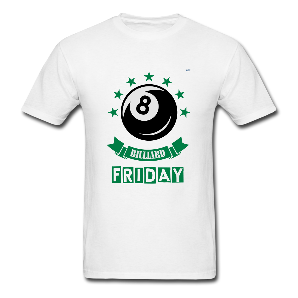 Friday Billiard Men's T-Shirt - white
