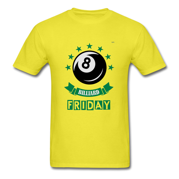 Friday Billiard Men's T-Shirt - yellow