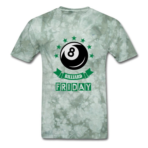 Friday Billiard Men's T-Shirt - military green tie dye