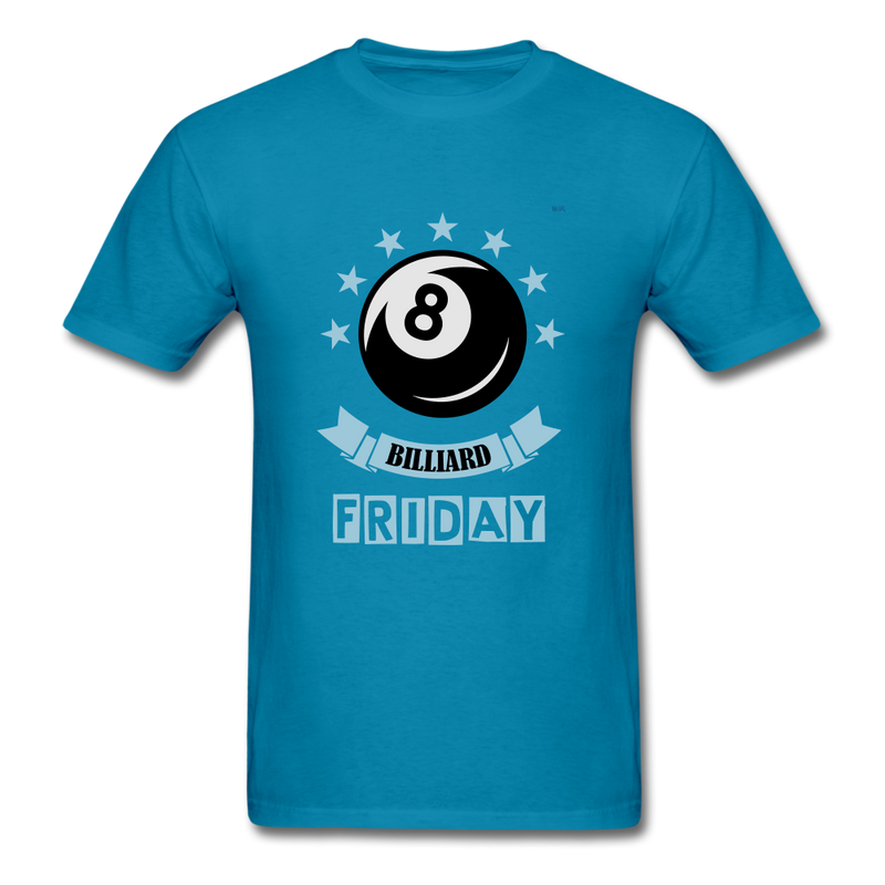 Billiard Dark Men's T-Shirt - turquoise