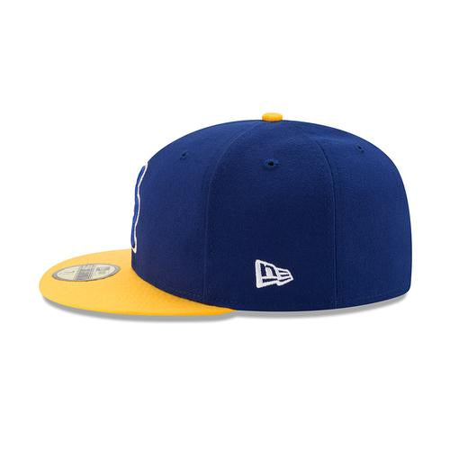 Wilmington Blue Rocks Royal/Gold Faux Fitted Game Cap
