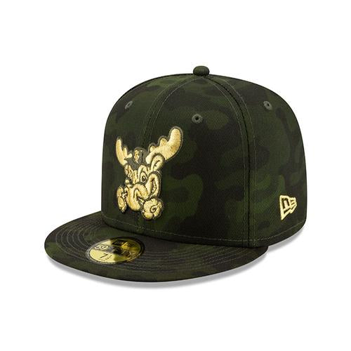Wilmington Blue Rocks 2019 Armed Forced Camo Fitted Game Cap