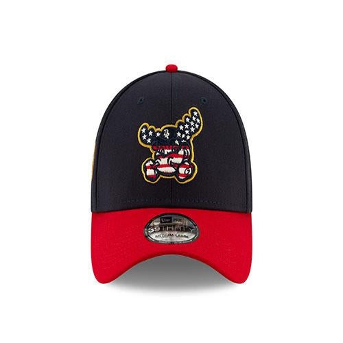 Wilmington Blue Rocks 2019 4th of July 39Thirty Stretch Fit Cap