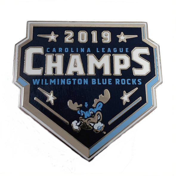 Wilmington Blue Rocks 2019 Carolina League Champions Lapel Pin