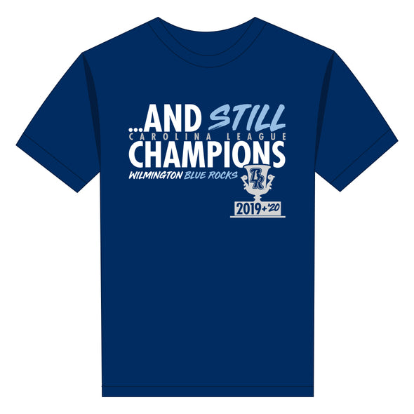 "Wilmington Blue Rocks Adult Navy ""And Still Champions"" Tee"