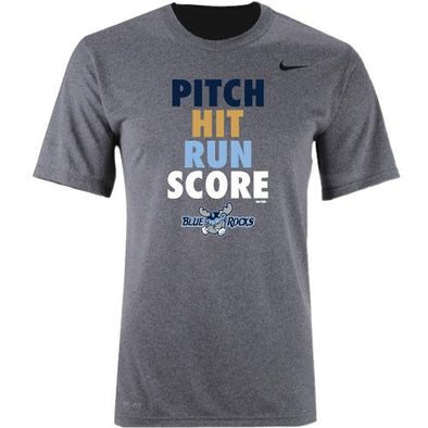 Wilmington Blue Rocks Youth Carbon Heather Dri-Fit Tee