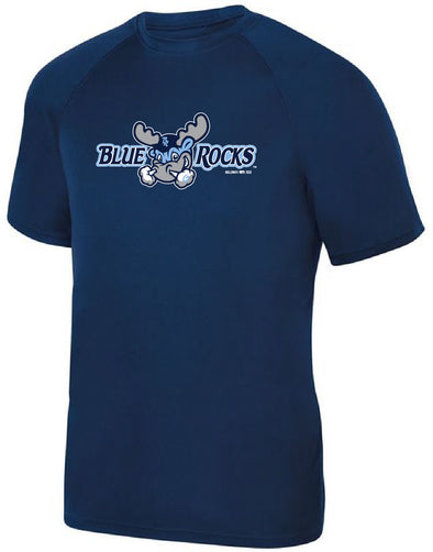 Wilmington Blue Rocks Youth Navy Alt. Primary Logo Poly Tee