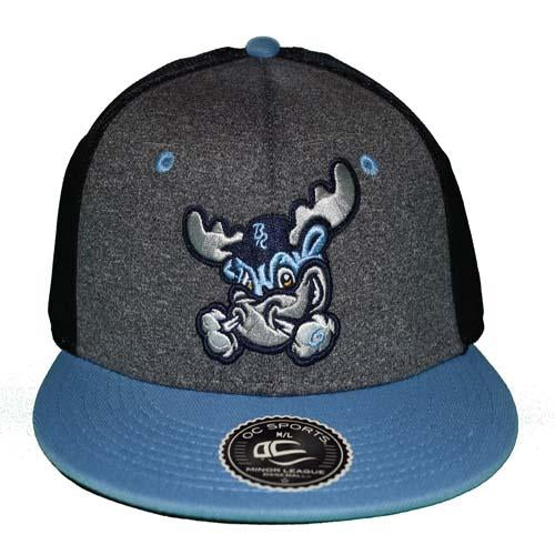 Wilmington Blue Rocks Adult Heather Rocky Stretch Fit Cap