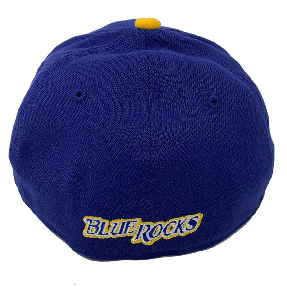 "Wilmington Blue Rocks Fauxback ""BR"" 39Thirty Stretch Fit Cap"