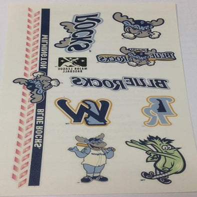 Wilmington Blue Rocks Temporary Tattoo Sheets