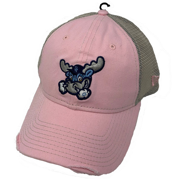 Wilmington Blue Rocks Ladies Pink/Tan Mesh Back Cap