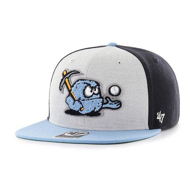 Wilmington Blue Rocks '47 Brand Gry/Col/Nvy Snapback Cap w/ Rubble