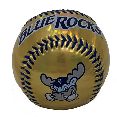 Wilmington Blue Rocks Metallic Gold Baseball