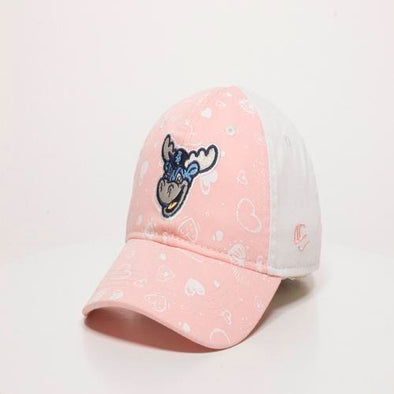 Wilmington Blue Rocks Toddler Pink/White Hearts Cap