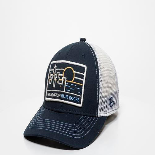 Wilmington Blue Rocks Shire Navy/White Mesh Back Cap