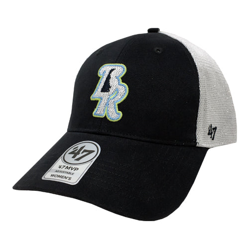 Wilmington Blue Rocks '47 Ladies Navy/White Glitter Mesh MVP Adj. Cap
