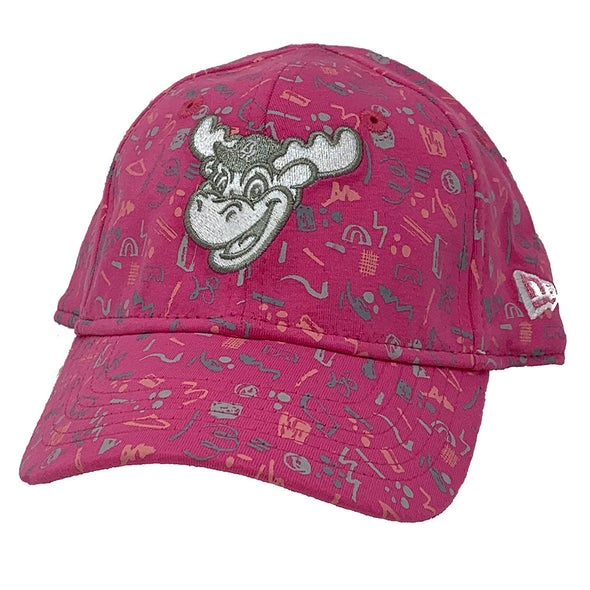 Wilmington Blue Rocks Toddler Pop Pink Pattern Cap