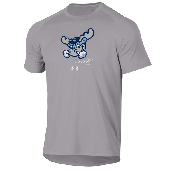 Wilmington Blue Rocks Adult True Gray Heather Rocky Tech Tee