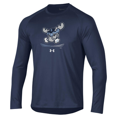 Wilmington Blue Rocks Adult Navy UA L/S Tech Tee