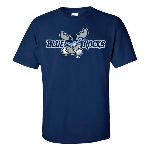 Wilmington Blue Rocks Adult Navy Alt. Primary Logo Tee