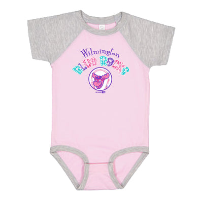 Wilmington Blue Rocks Infant Pink/Heather Vintage Bodysuit