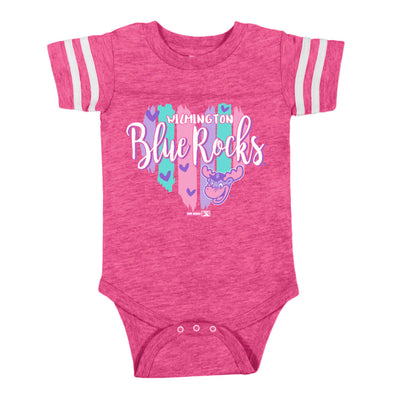 Wilmington Blue Rocks Infant Vintage Hot Pink Sporty Bodysuit