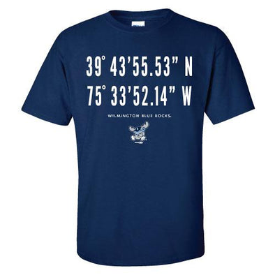 Wilmington Blue Rocks Adult Navy Latitude Tee