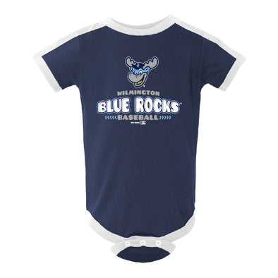 Wilmington Blue Rocks Infant Navy/White Ringer Bodysuit