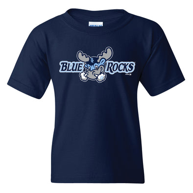 Wilmington Blue Rocks Youth Navy Alt. Primary Logo Tee