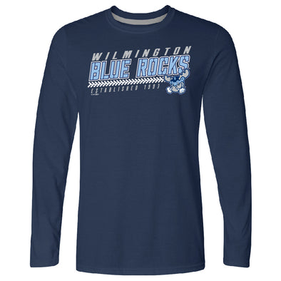 Wilmington Blue Rocks Adult Navy Duckly L/S Tee