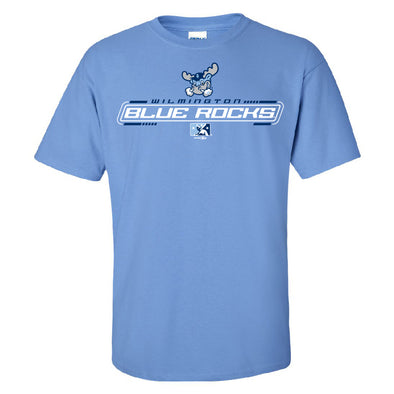 Wilmington Blue Rocks Adult Carolina Blue Stark Tee