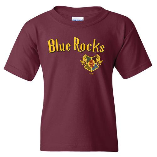Wilmington Blue Rocks Youth Maroon Wizard Tee