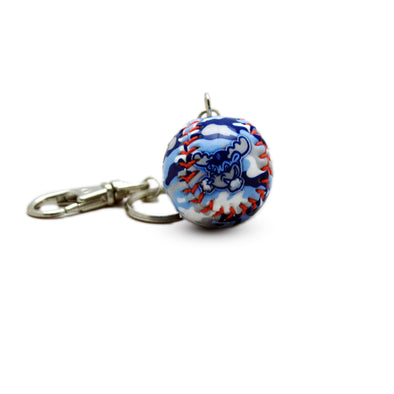 Wilmington Blue Rocks Camo Mini-Baseball Key Chain