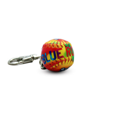 Wilmington Blue Rocks Tye-Die Mini-Baseball Key Chain