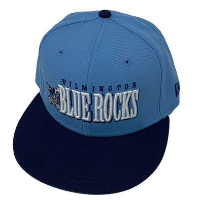 Wilmington Blue Rocks Youth Car. Blue/Navy Jumbo Snap Back Cap